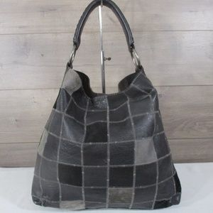 Lucky Brand Black Patchwork Tote Hobo